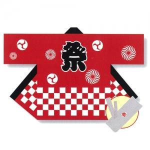 【セール】子供激安法被(TK/祭市松法被)110サイズ(赤)